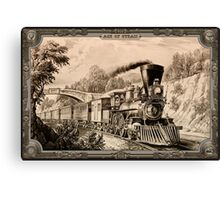 Locomotive. Age of Steam #004 Canvas Print