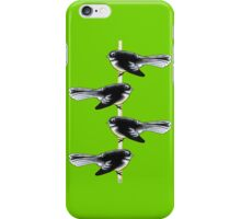 Piwakawaka Pair (on green) iPhone Case/Skin