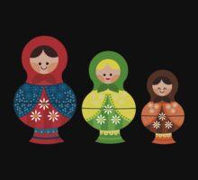 Matrioskas (Russian dolls) Baby Tee