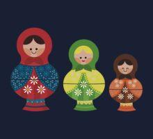 Matrioskas (Russian dolls) Kids Tee