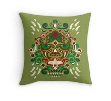 Ornated mask vertical Throw Pillow