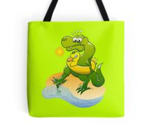 Tyrannosaurus Rex Dipping a Toe in Water Tote Bag