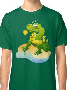 Tyrannosaurus Rex Dipping a Toe in Water Classic T-Shirt
