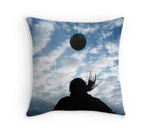 Header into the Sky Throw Pillow