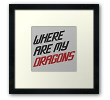 Where are My Dragons - GOT Framed Print