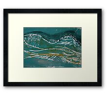 Today the Land Looks Like Sea Framed Print
