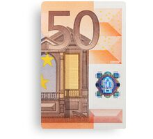 Fifty Euro Note Canvas Print