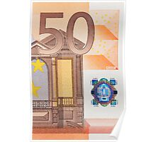 Fifty Euro Note Poster