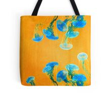 Crazy Yellow Burning Jellyfish Tote Bag
