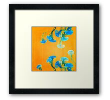 Crazy Yellow Burning Jellyfish Framed Print