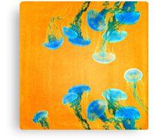 Crazy Yellow Burning Jellyfish Canvas Print