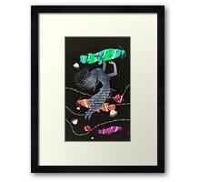 Space Surrealism Pop Vintage Woman II Framed Print