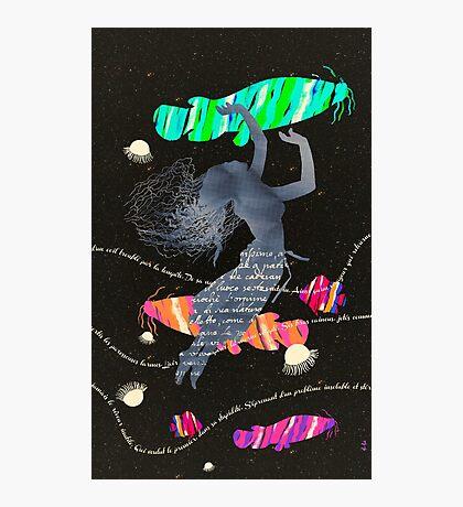 Space Surrealism Pop Vintage Woman II Photographic Print