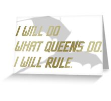 RULE Daenerys Targaryen Greeting Card