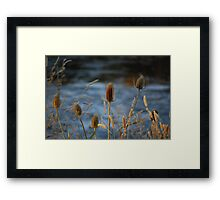 Day's End at the River Bend Framed Print