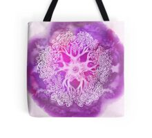 Psychedelic Purple Ink Octopus Blob Tote Bag
