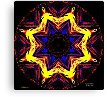 FIRE DISC IN SPACE Canvas Print