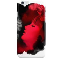 Psychedelic Ink Red Girl iPhone Case/Skin
