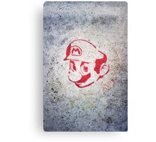Super Mario Bros Urban Hip Hop Wall Tag Canvas Print