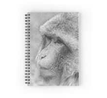 Monkey - Black and white Spiral Notebook