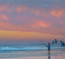 Catching the Sunrise too - Gold Coast Qld Australia Sticker