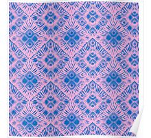 Graphic Shell Pattern Purple Poster