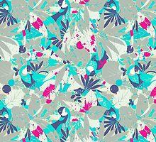 Brazil Parrots Palm Tree Crazy Hip Hop Pattern by Pepe Psyche