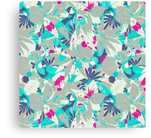 Brazil Parrots Palm Tree Crazy Hip Hop Pattern Canvas Print