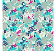 Brazil Parrots Palm Tree Crazy Hip Hop Pattern Photographic Print