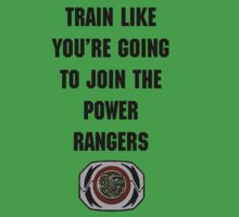 Train As If You're Joining The Power Rangers One Piece - Short Sleeve