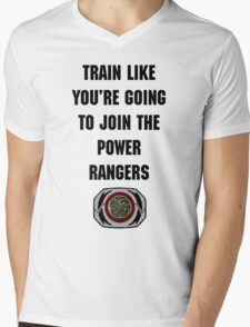Train As If You're Joining The Power Rangers Mens V-Neck T-Shirt
