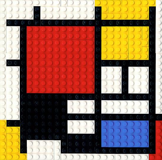 If Mondrian had Lego.... by Addison