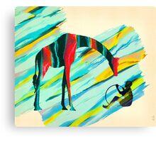 Africa Giraffe Boy Collage Canvas Print