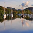 Yachts on Ullswater by Peter Hammer