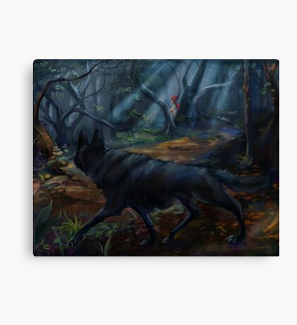 Stalking Red Riding Hood Canvas Print