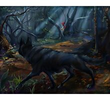 Stalking Red Riding Hood Photographic Print