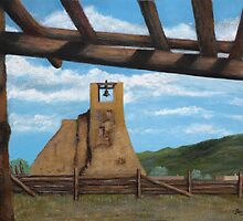 Taos Pueblo Church Ruins by Gordon  Beck