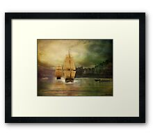 Race to the finish line... Framed Print