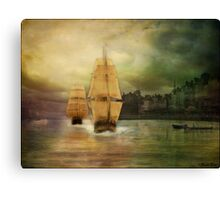 Race to the finish line... Canvas Print