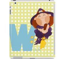 w for witch iPad Case/Skin