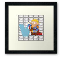v for villein Framed Print