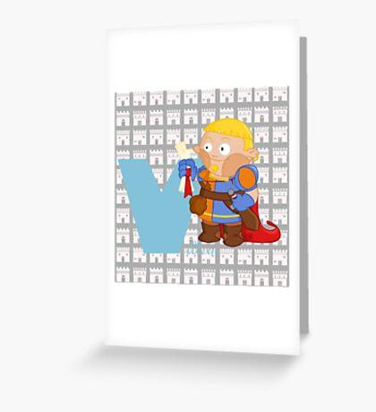 v for villein Greeting Card