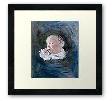 Erin - just born Framed Print