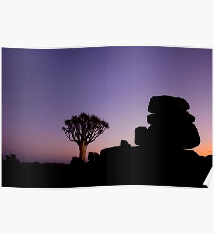 Twilight in the Giant's Playground - Keetmanshoop Namibia Poster