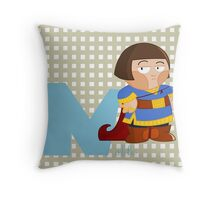 n for noble Throw Pillow