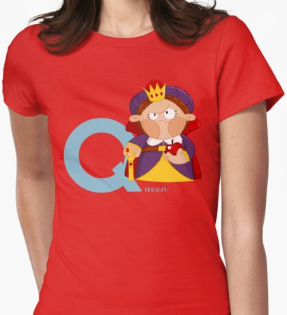 q for queen Womens Fitted T-Shirt