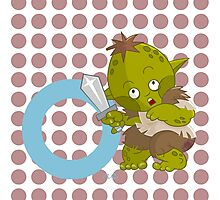 o for orc Photographic Print