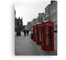 Telephone Boxes Canvas Print