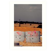 dry wells Art Print