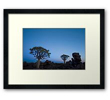 Blue Hour in the Giants Playground - Keetmanshoop Namibia Framed Print